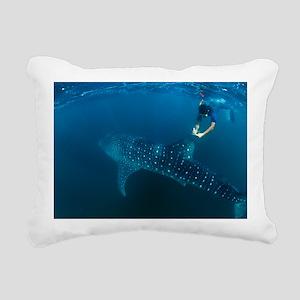 Whale shark and snorkeler - Pillow