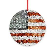 Creative American Flag Ornament (Round)