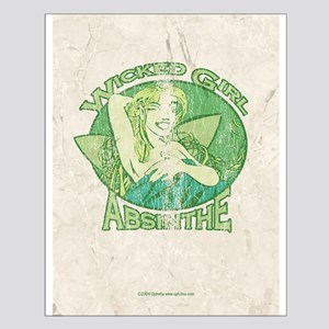 Vintage Wicked Girl Absinthe Small Poster