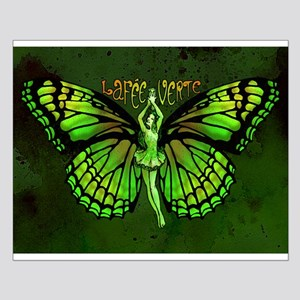 Green Fairy Wings Spread Small Poster
