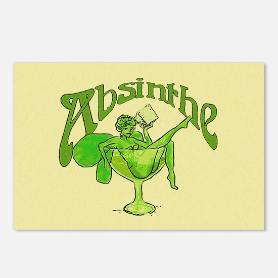 Fairy In Glass Absinthe Postcards (Package of 8)