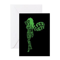 Swirly La Fee Verte Greeting Card