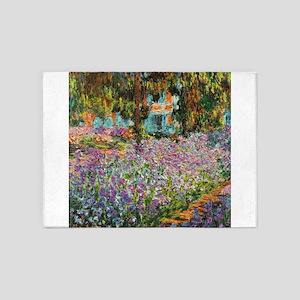 Irises In Monet's Garden 5'x7'Area Rug