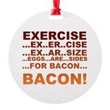 Bacon Round Ornament