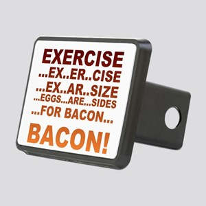 Exercise bacon Rectangular Hitch Cover