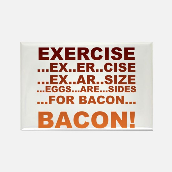 Exercise bacon Rectangle Magnet