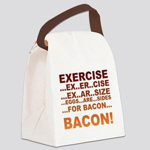 Exercise bacon Canvas Lunch Bag