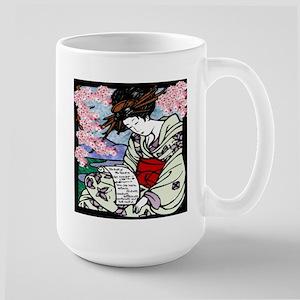 Cherry Blossom Geisha Large Mug