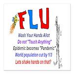Flu Epidemic-Pandemic? Square Car Magnet 3