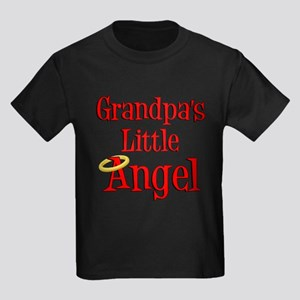 Grandpas Little Angel Kids Dark T-Shirt