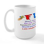 Flu Epidemic-Pandemic? Large Mug