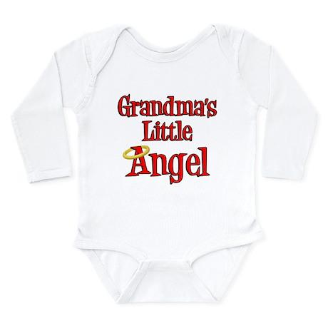 Grandmas Little Angel Long Sleeve Infant Bodysuit
