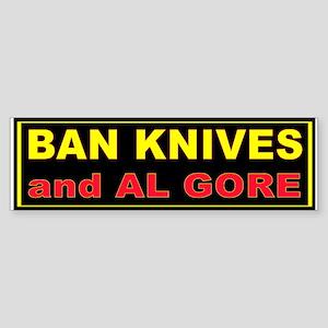 BAN KNIVES AND GORE Sticker (Bumper)