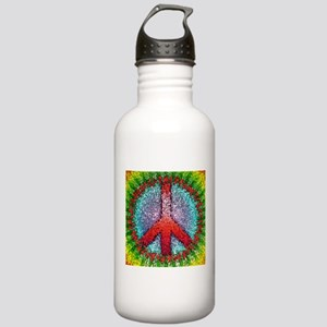 Abstract Peace Sign Stainless Water Bottle 1.0L