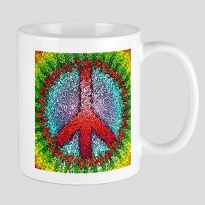 Abstract Peace Sign Mug