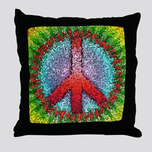 Abstract Peace Sign Throw Pillow