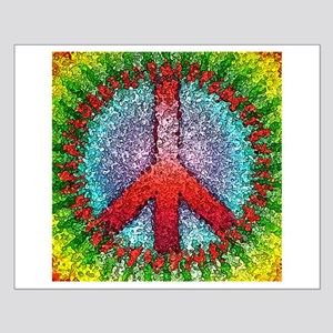 Abstract Peace Sign Small Poster