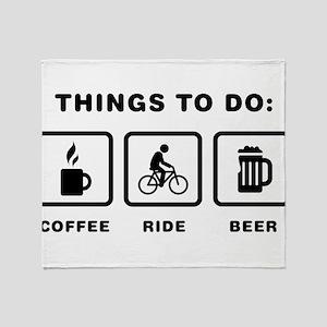 Bicycle Riding Throw Blanket