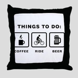 Bicycle Riding Throw Pillow