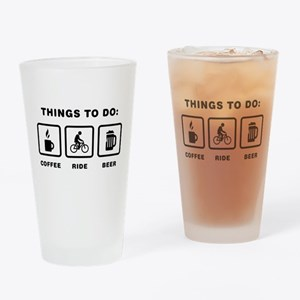 Bicycle Riding Drinking Glass