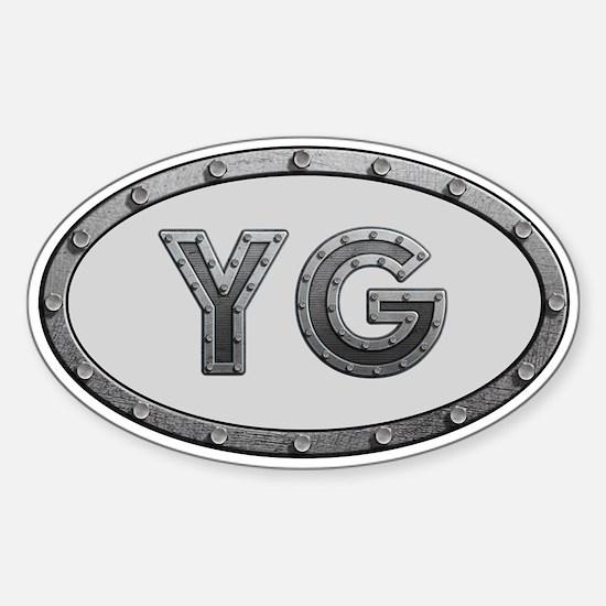 YG Metal Sticker (Oval)