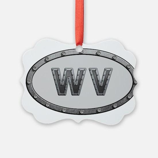 WV Metal Ornament