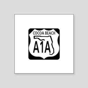 A1A Cocoa Beach Rectangle Sticker