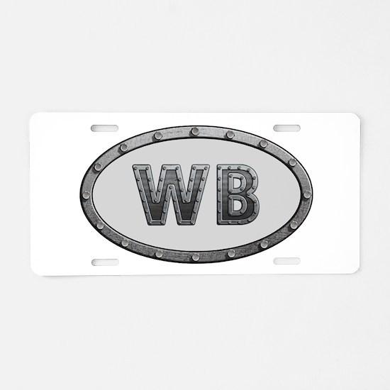 WB Metal Aluminum License Plate