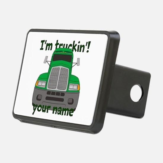 Personalized Im Truckin Hitch Cover
