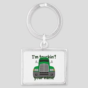 Personalized Im Truckin Landscape Keychain