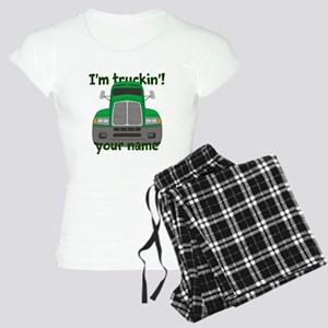 Personalized Im Truckin Women's Light Pajamas