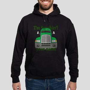 Personalized Im Truckin Hoodie (dark)