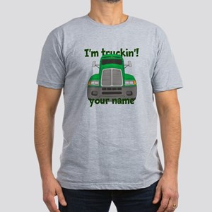 Personalized Im Truckin Men's Fitted T-Shirt (dark