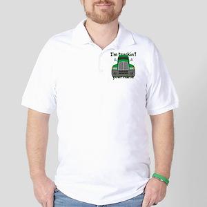 Personalized Im Truckin Golf Shirt