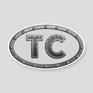 TC Metal Oval Car Magnet