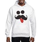Mustache and Sunglasses Hooded Sweatshirt