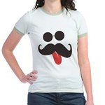 Mustache and Sunglasses Jr. Ringer T-Shirt
