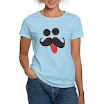 Mustache and Sunglasses Women's Light T-Shirt