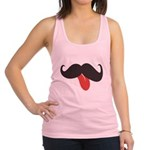 Mustache and Tongue Racerback Tank Top