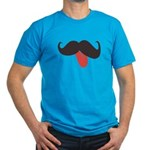 Mustache and Tongue Men's Fitted T-Shirt (dark)