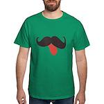 Mustache and Tongue Dark T-Shirt