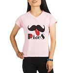 Mustache Rides Performance Dry T-Shirt
