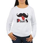 Mustache Rides Women's Long Sleeve T-Shirt