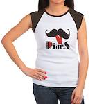 Mustache Rides Women's Cap Sleeve T-Shirt