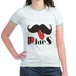 Mustache Rides Jr. Ringer T-Shirt