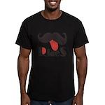 Mustache Rides Men's Fitted T-Shirt (dark)