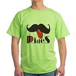 Mustache Rides Green T-Shirt