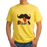 Mustache Rides Yellow T-Shirt