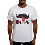 Mustache Rides Light T-Shirt