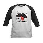 I Mustache You a Question Kids Baseball Jersey
